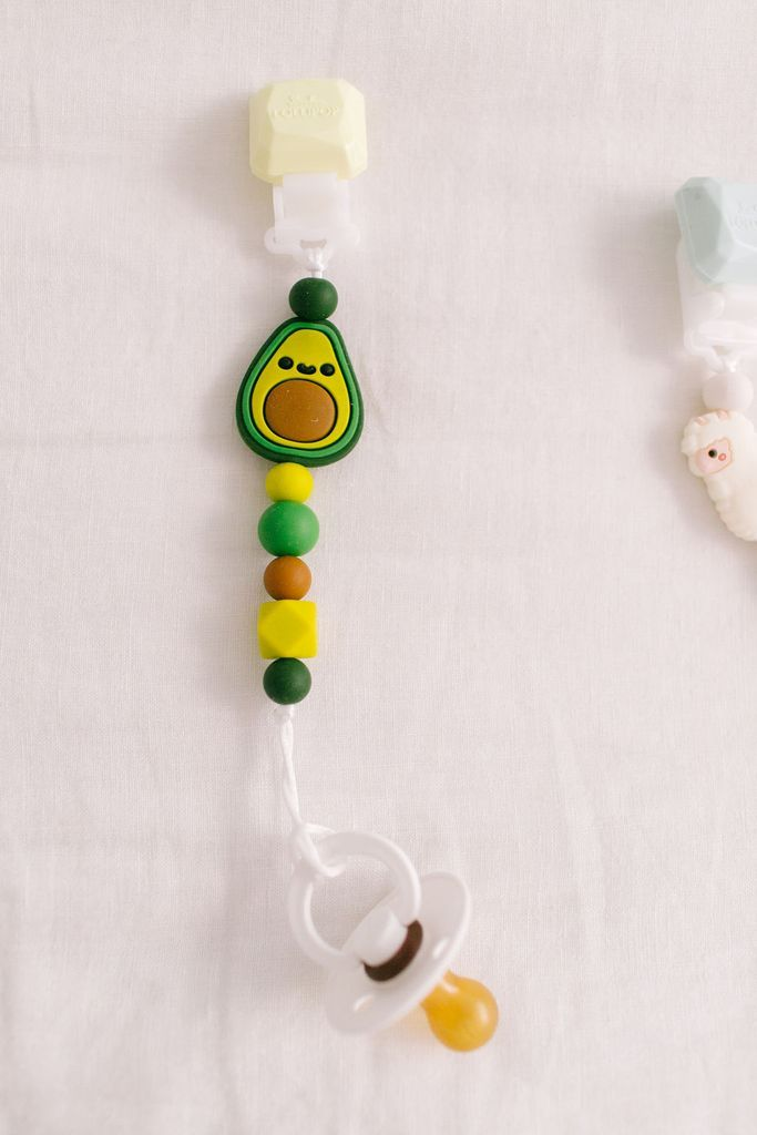 Darling Pacifier Clip - Avocado by Loulou Lollipop