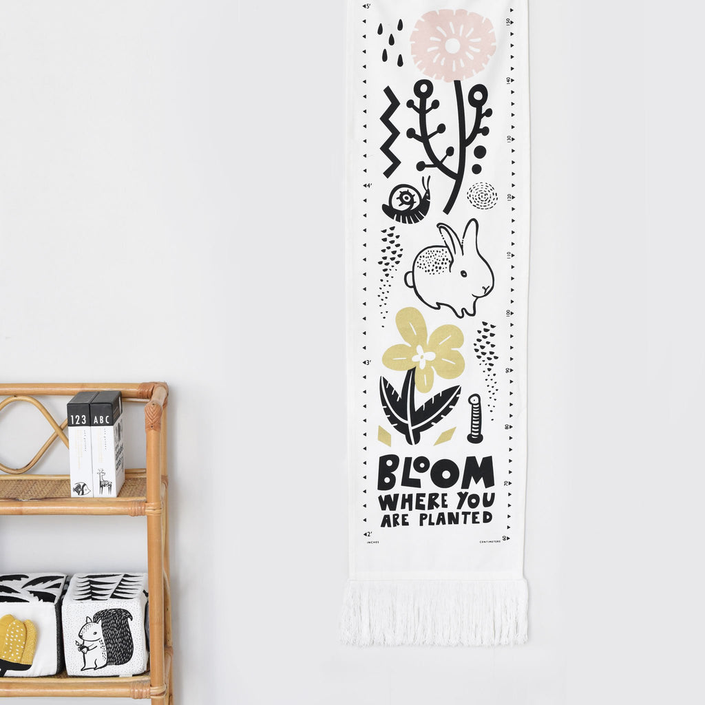 Organic Canvas Growth Chart - Bloom by Wee Gallery
