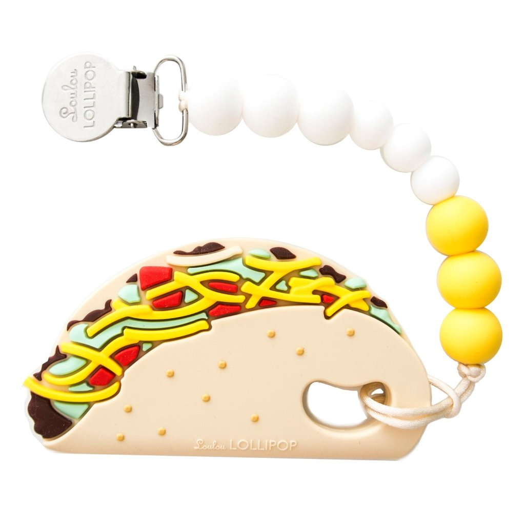 Taco Teether Clip - by Loulou Lollipop
