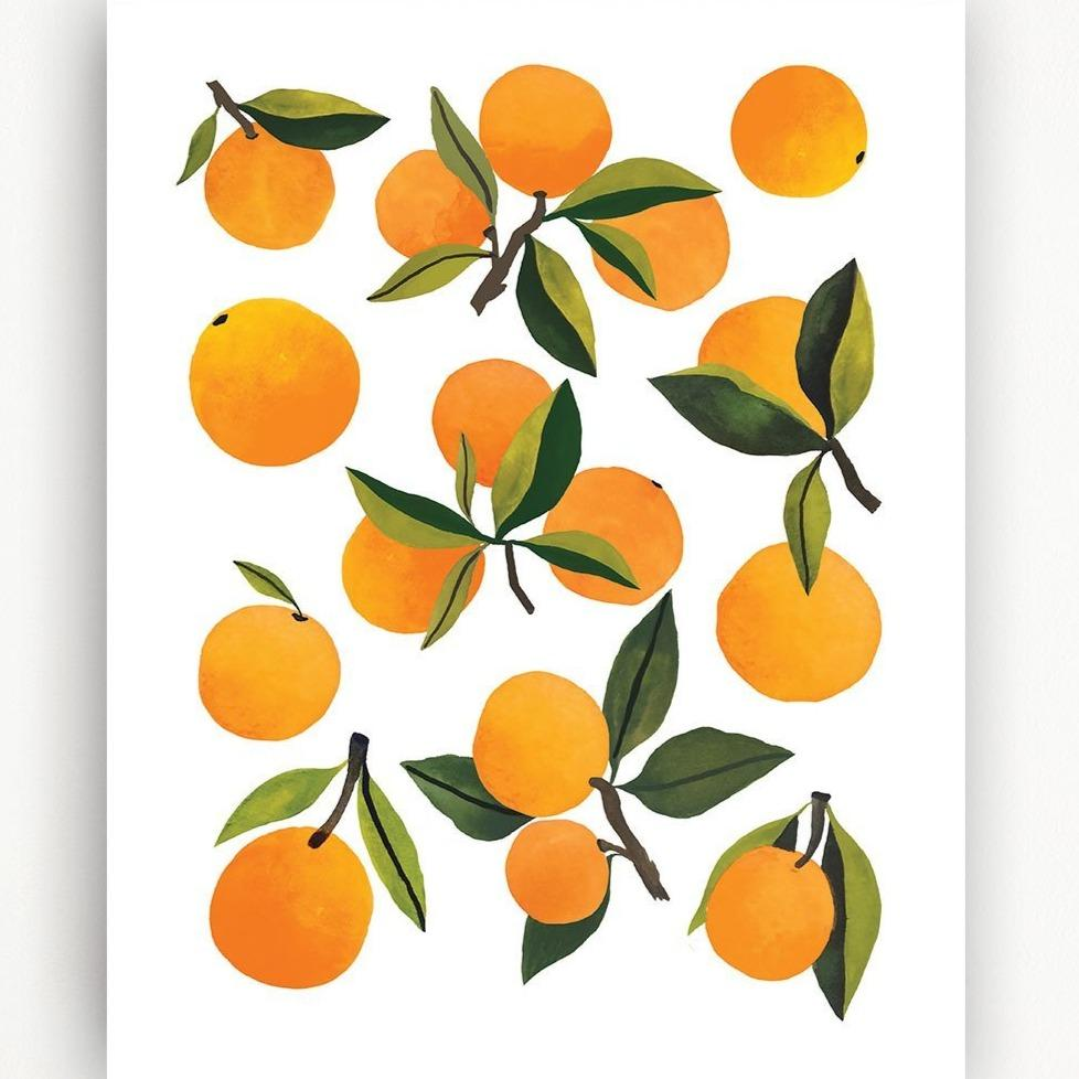 Fresh Clementines Art Print - 11x14 by Clementine Kids