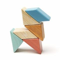 Magnetic Block Set 6 Pc Prism Pocket Pouch - Sunset by Tegu - Pacifier