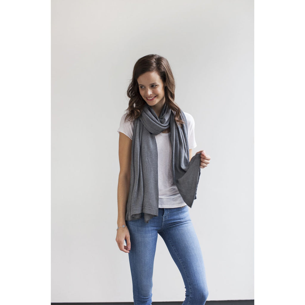 Mother's Cocoon Nursing Scarf/Shawl - Grey Marl by Storksak