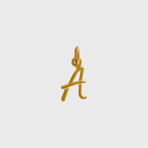 Gold Script Initial Pendant by Wallin + Buerkle Wallin + Buerkle Accessories
