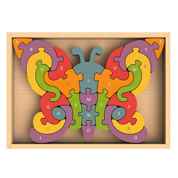Butterfly A to Z Wooden Puzzle by Begin Again