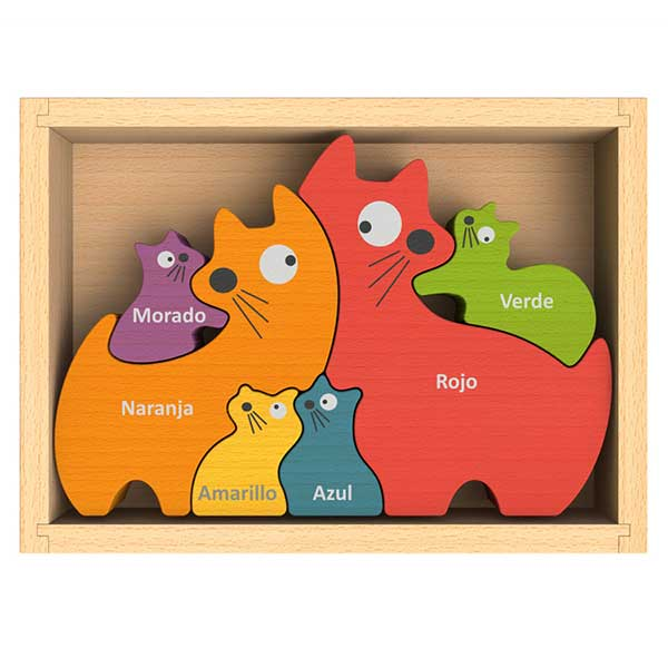 Cat Family Puzzle with Curriculum - English Colors by Begin Again