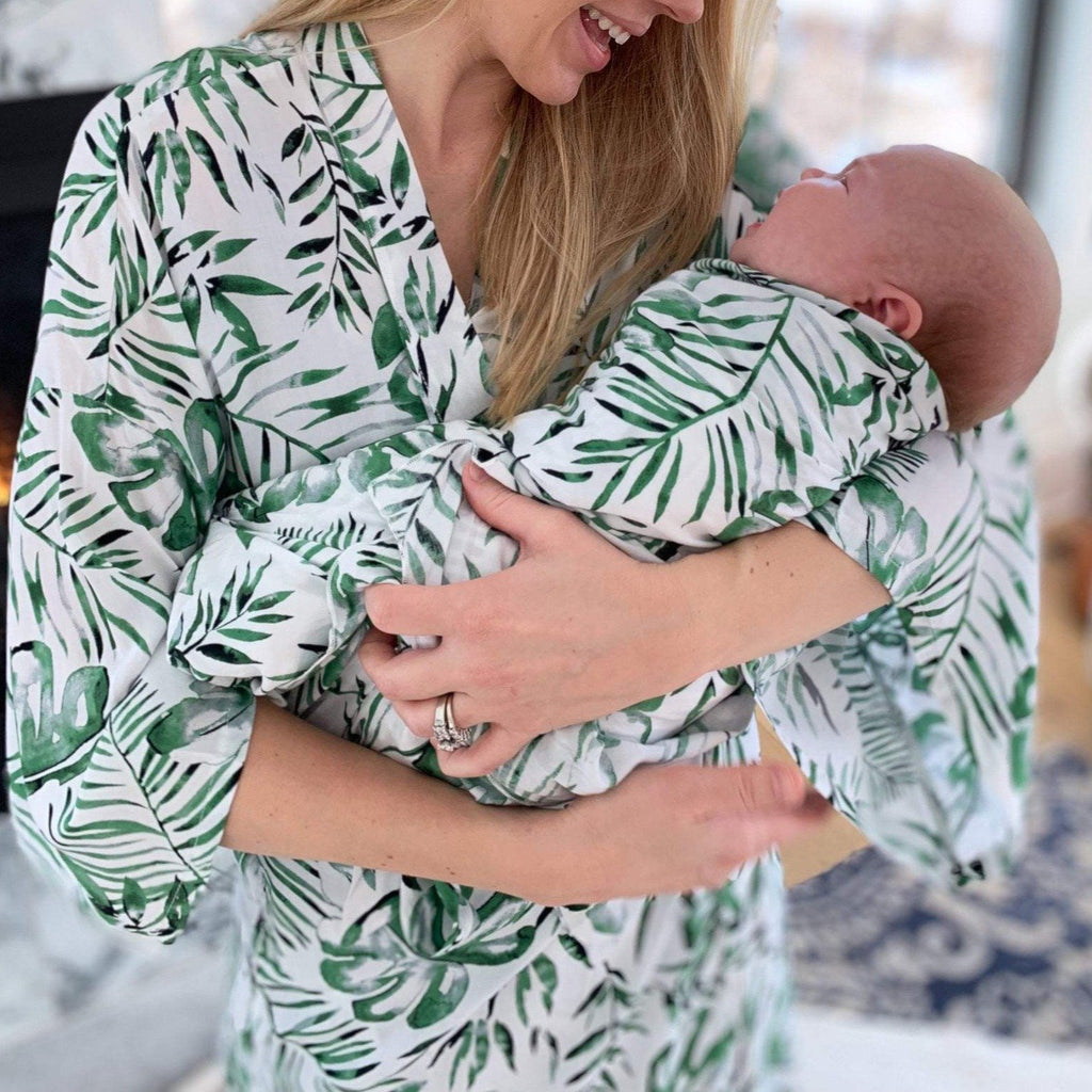 Mama Robe - Palm Leaf / OS by May and Joy May and Joy Apparel