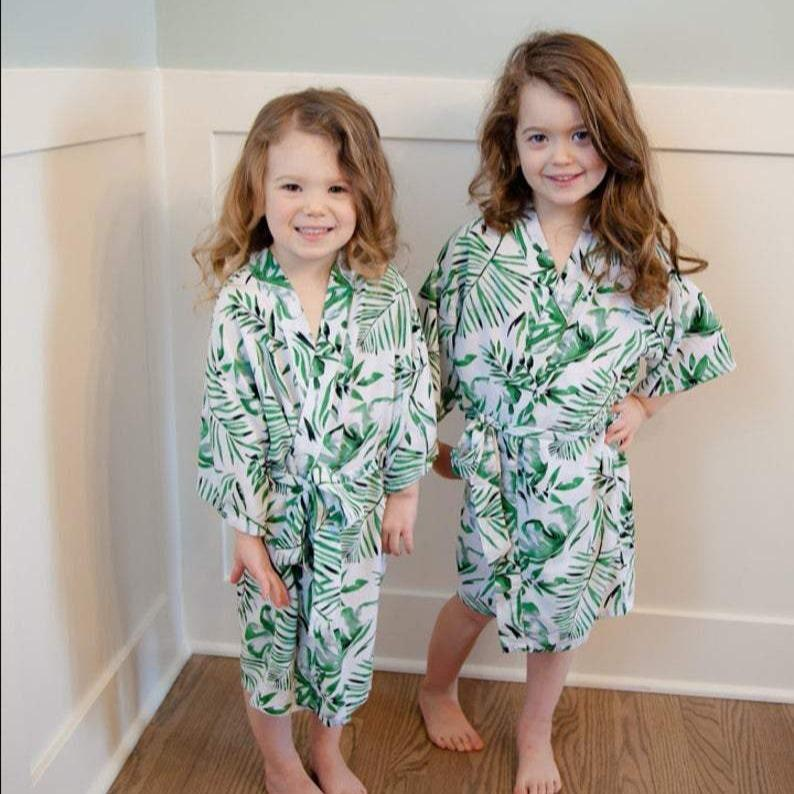 Kids Robe - Palm Leaf / 3-5Y by May and Joy May and Joy Bath + Potty