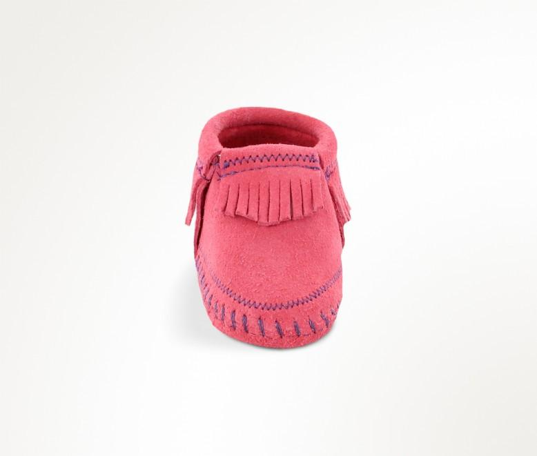 Riley Bootie - Pink by Minnetonka Moccasin - Pacifier