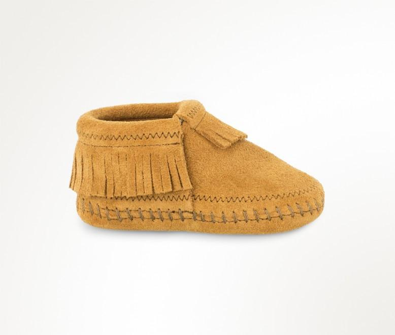 Riley Bootie - Taupe by Minnetonka Moccasin - Pacifier