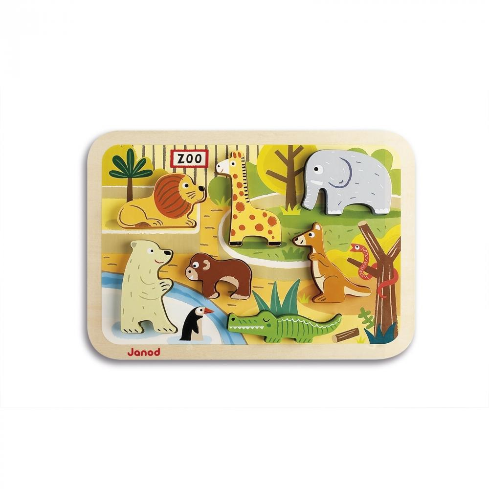 Chunky Wooden Puzzle - Zoo by Janod
