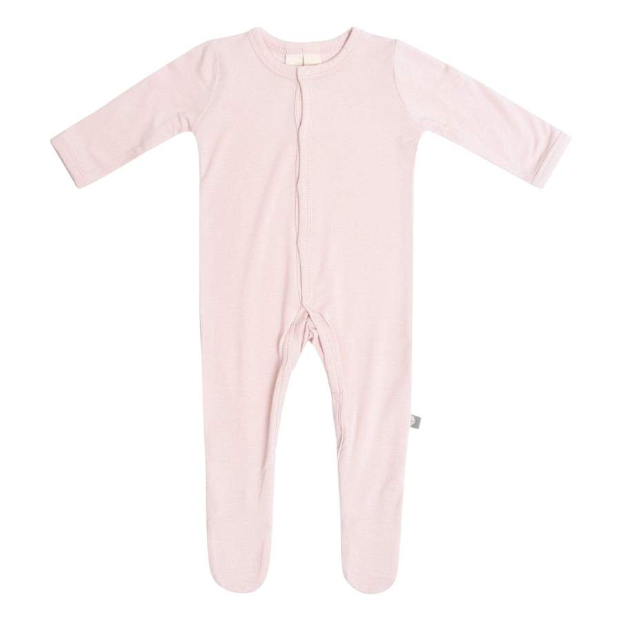 Solid Footie with Snaps - Blush by Kyte Baby
