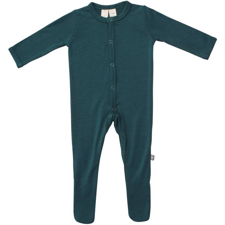 Solid Footie with Snaps - Emerald by Kyte Baby