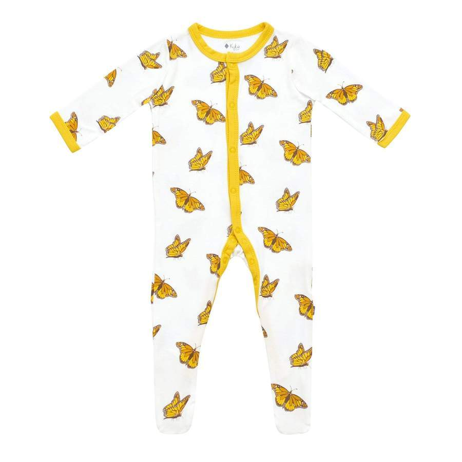 Printed Footie with Zipper - Monarch by Kyte Baby