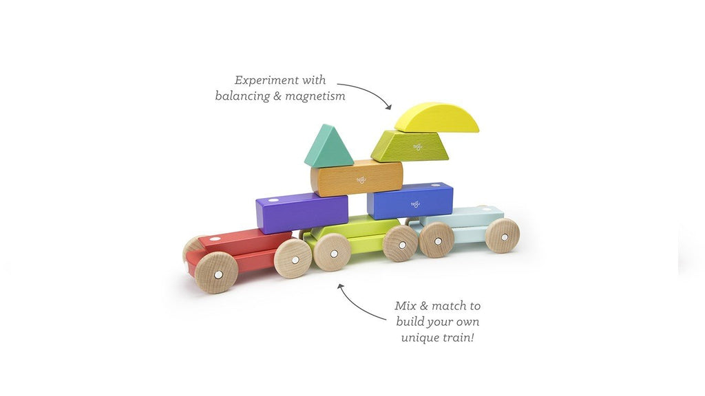 Magnetic Shape Train - Rainbow by Tegu