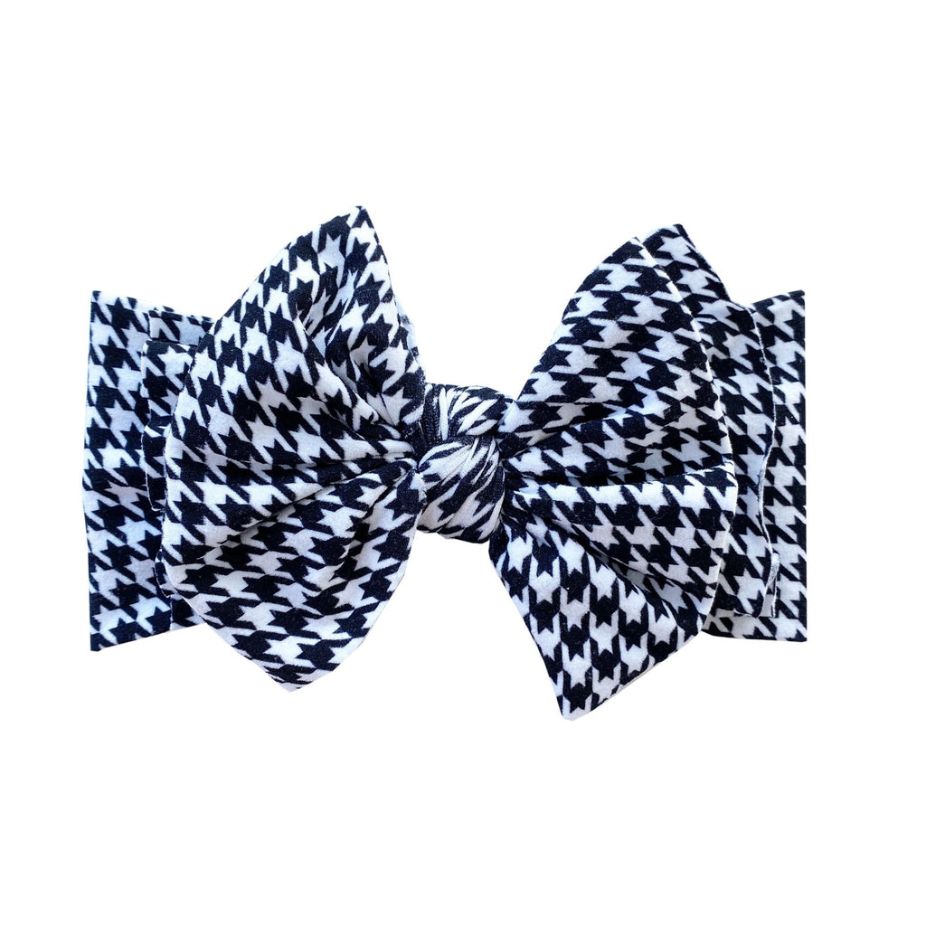 Printed Fab Headband Bow - Houndstooth by Baby Bling