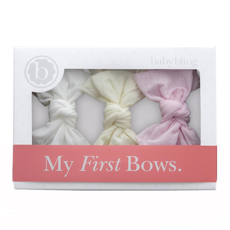 Knot Headband 3 Pack - Pink + Ivory + White by Baby Bling