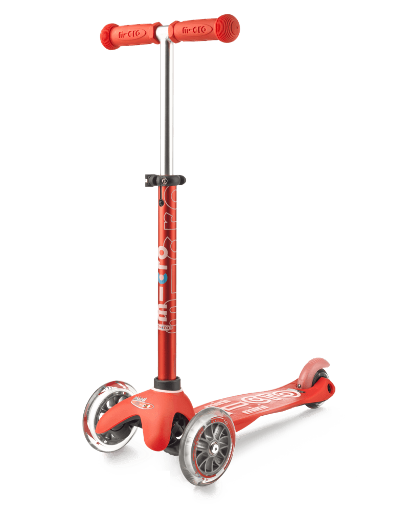 Mini Micro 3in1 Deluxe Scooter - Red By Micro Kickboard