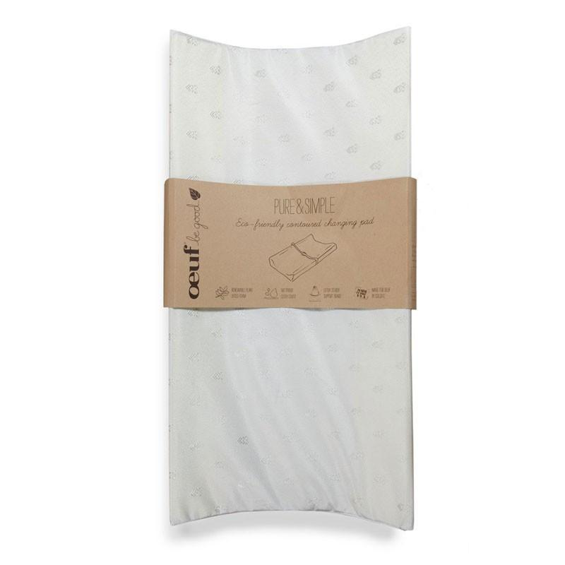 Eco-Friendly Contoured Changing Pad - Pure & Simple by Oeuf Oeuf Furniture