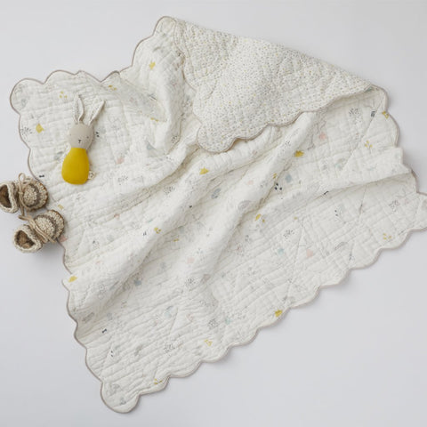Magical Forest Scalloped Blanket by Pehr