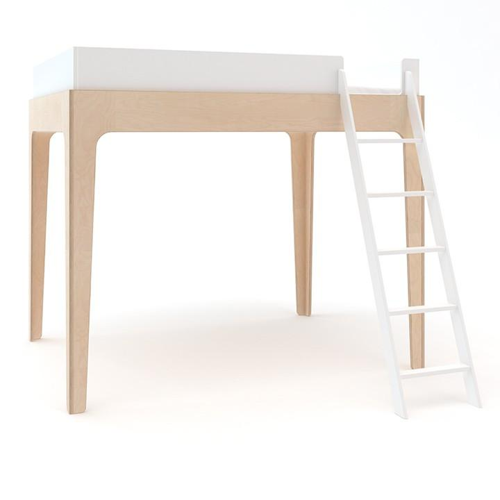 Perch Twin Loft Bed - White / Birch by Oeuf Oeuf Furniture