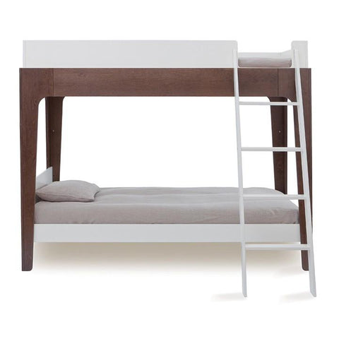 Perch Twin Bunk Bed - White / Walnut by Oeuf - Pacifier