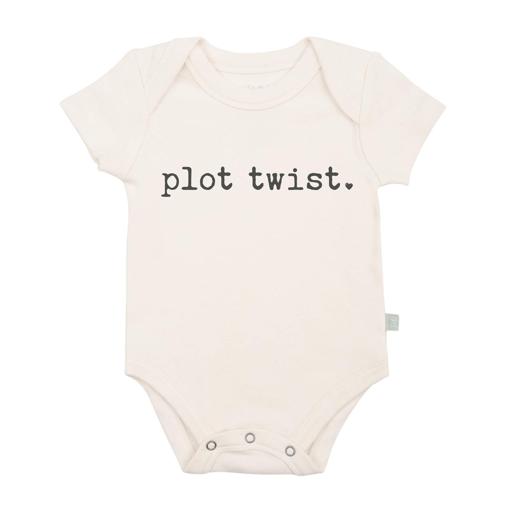Plot Twist Organic Bodysuit - Natural by Finn + Emma