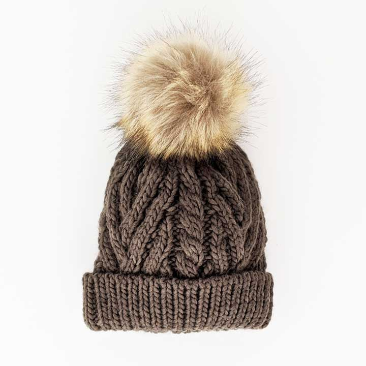 Pop Knit Hat - Loden by Huggalugs