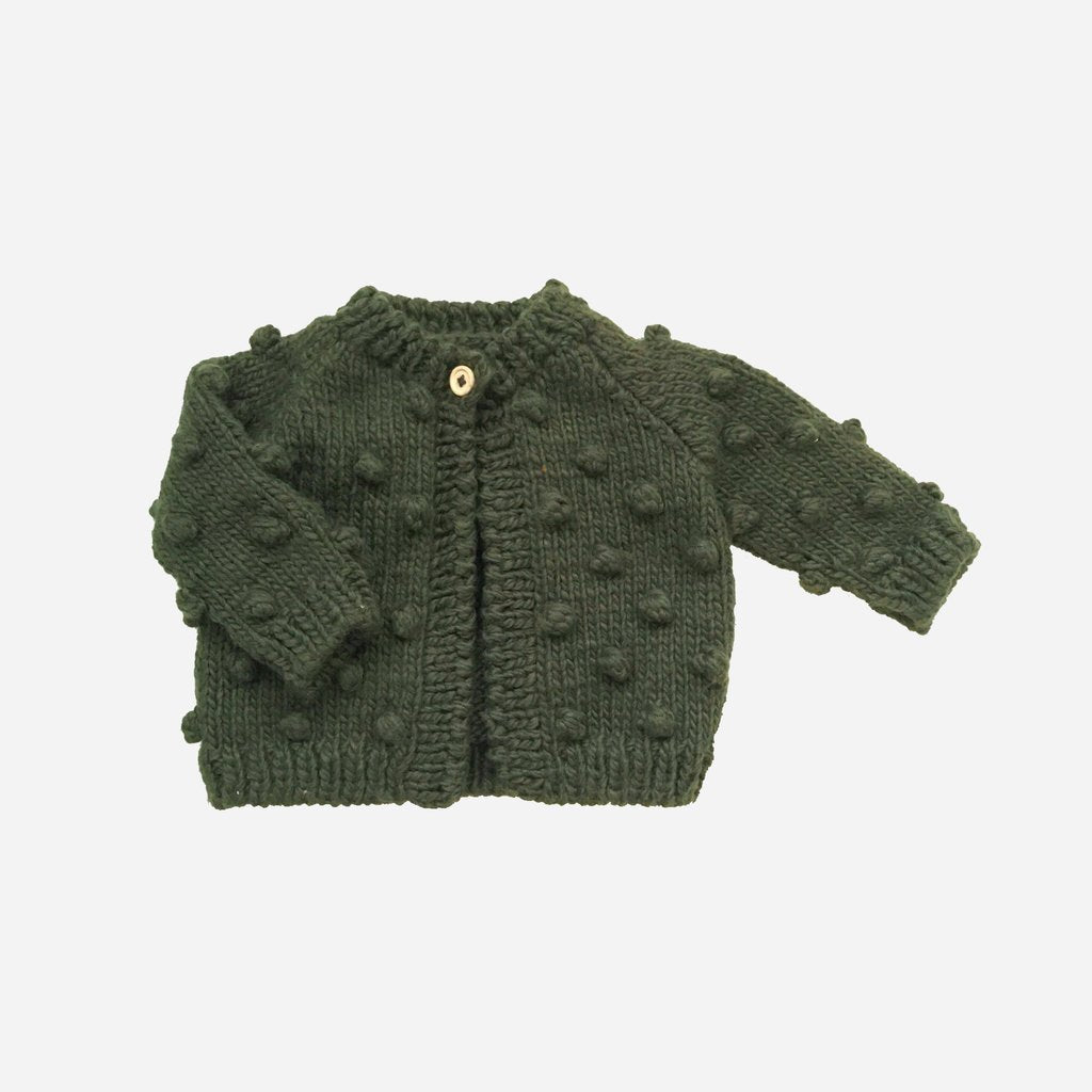 Popcorn Cardigan Sweater - Rifle Green by The Blueberry Hill