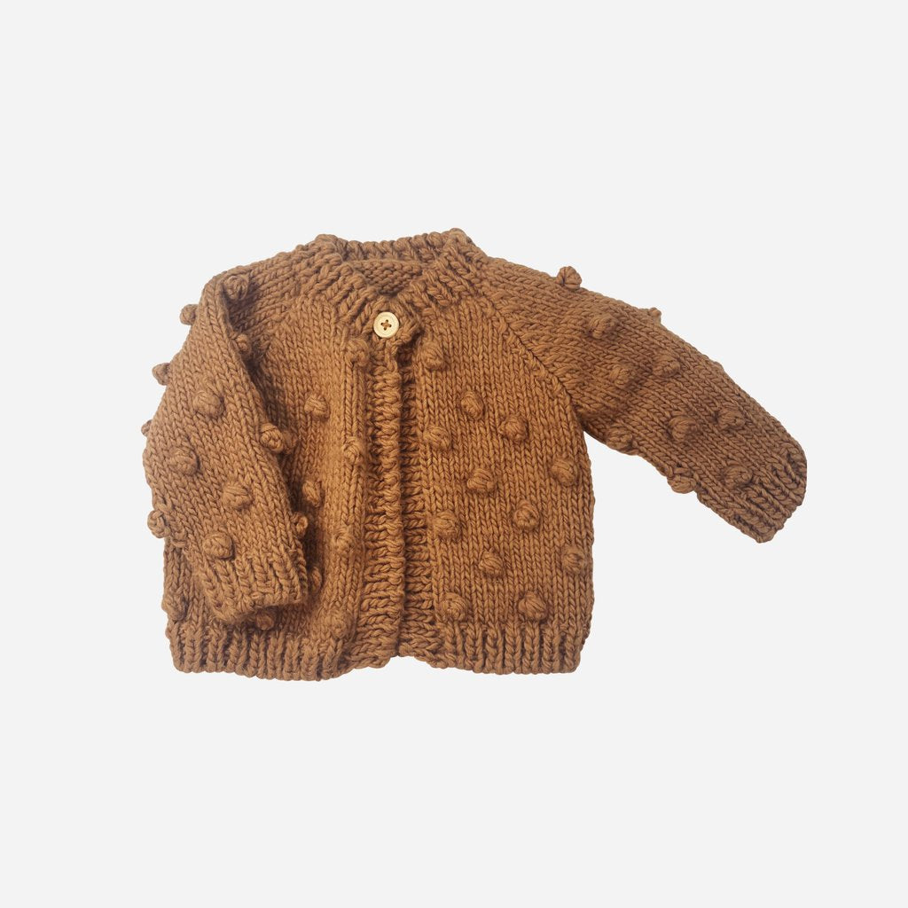 Popcorn Cardigan Sweater - Pecan by The Blueberry Hill