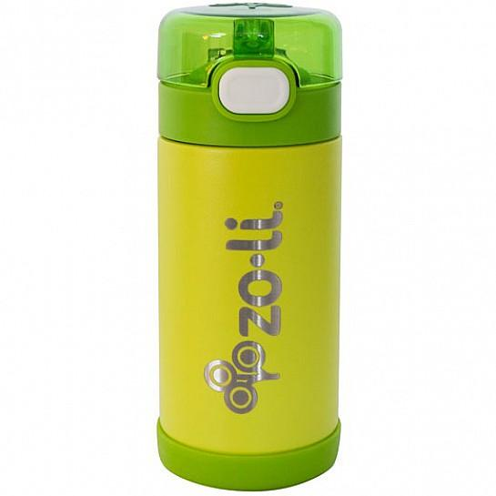 Zoli POW Squeek Stainless Insulated Bottle 10 oz - Green