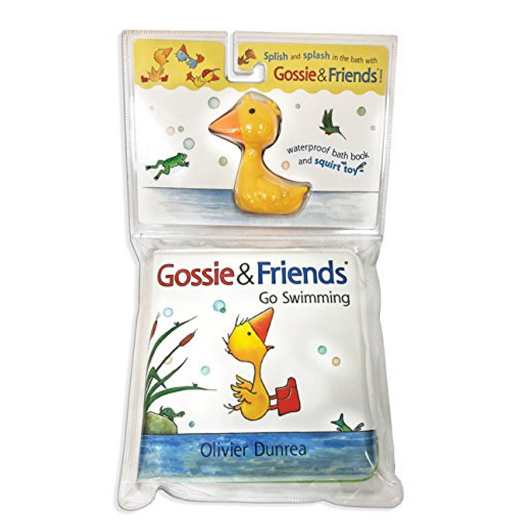 Gossie Bath Book with Duckie Toy Houghton Mifflin Books