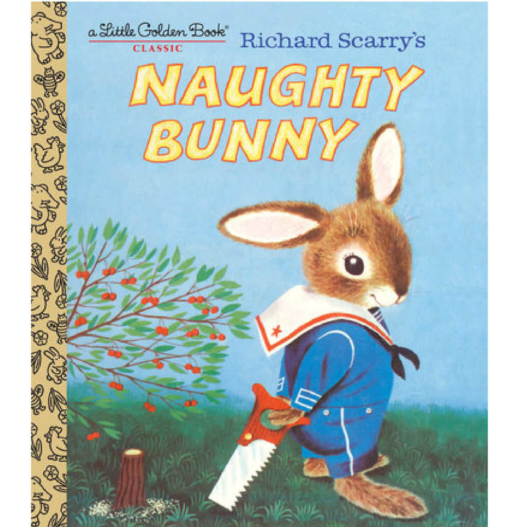 Richard Scarry's Naughty Bunny - Little Golden Book