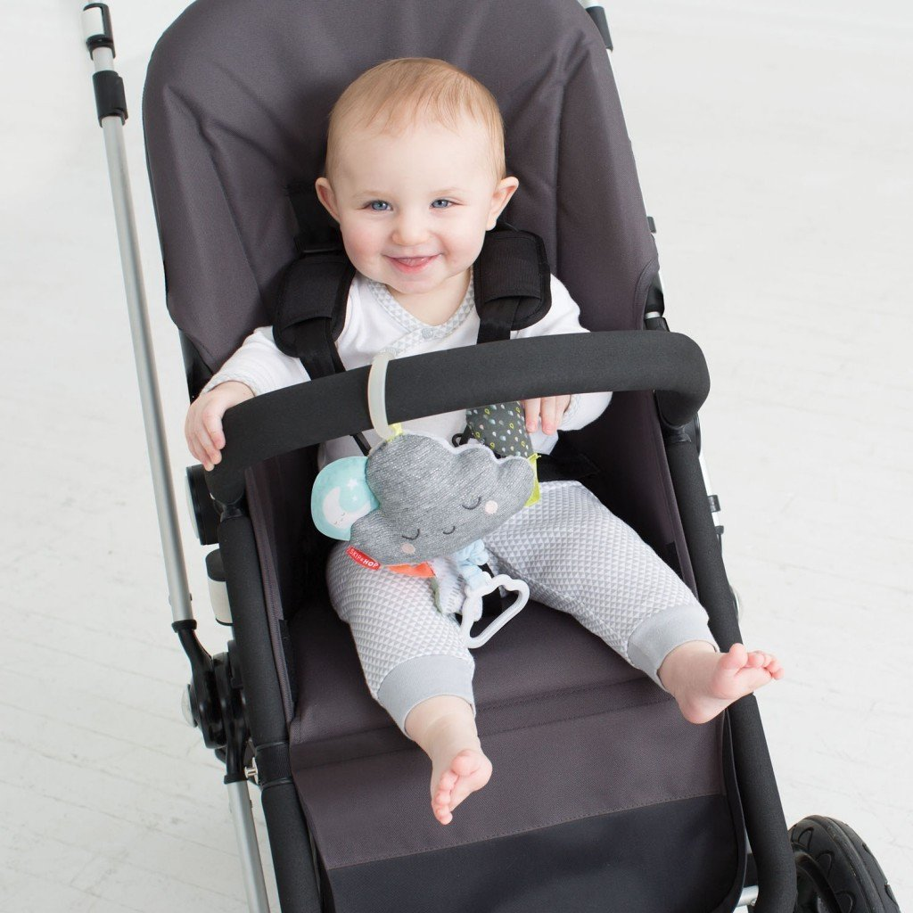 Silver Lining Jitter Cloud Stroller Toy by Skip Hop - Pacifier