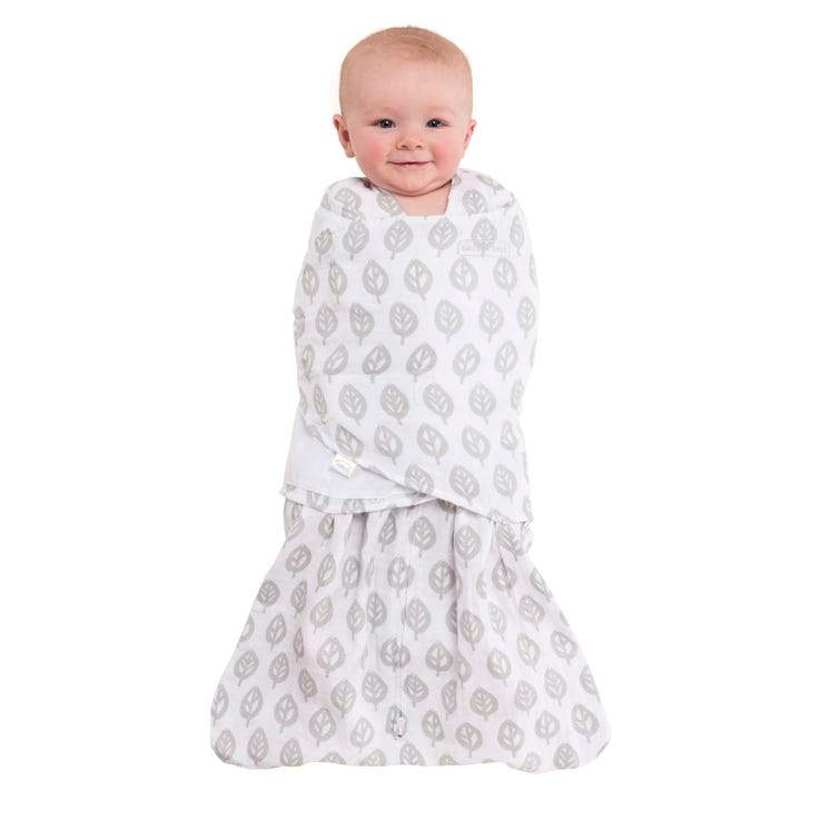 100% Cotton Muslin SleepSack Swaddle - Gray Tree by Halo