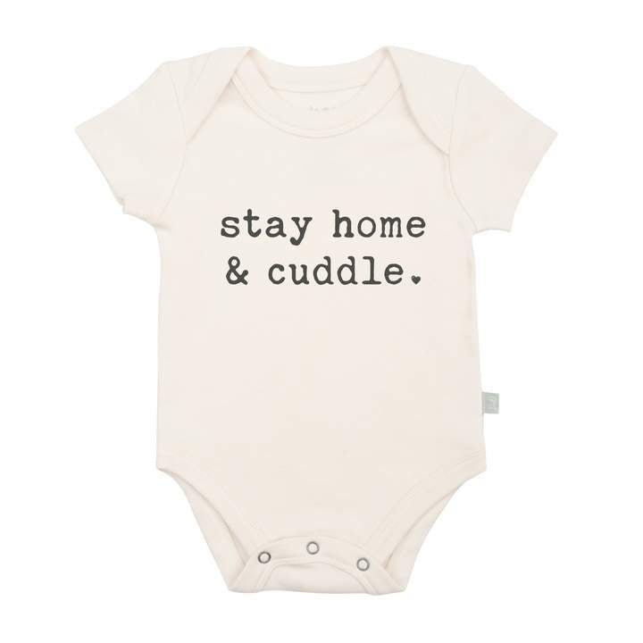 Stay Home & Cuddle Organic Bodysuit - Natural by Finn + Emma