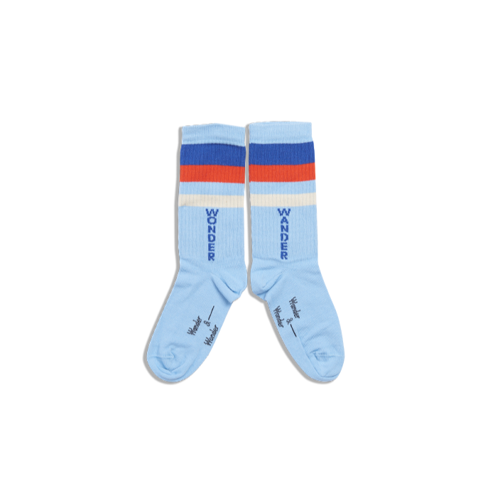 Stripe Socks - Blue by Wander & Wonder
