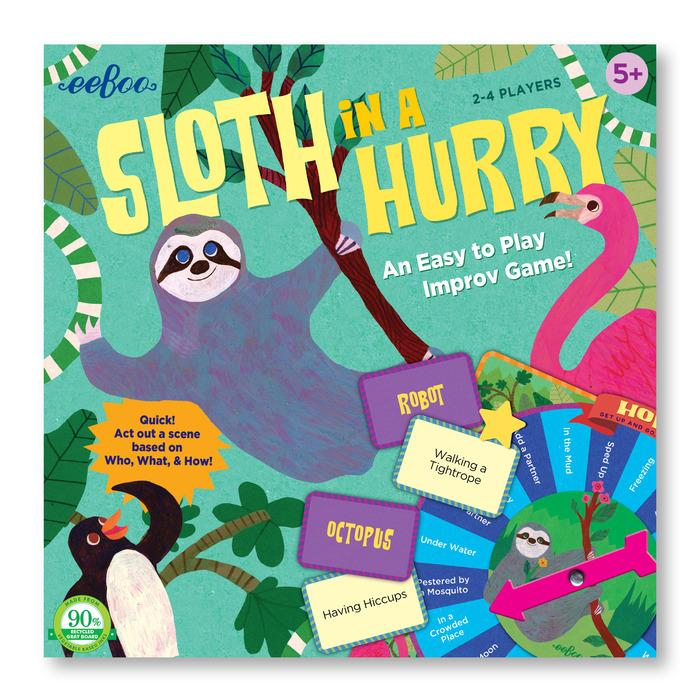 Sloth In A Hurry Action Game by Eeboo Eeboo Toys