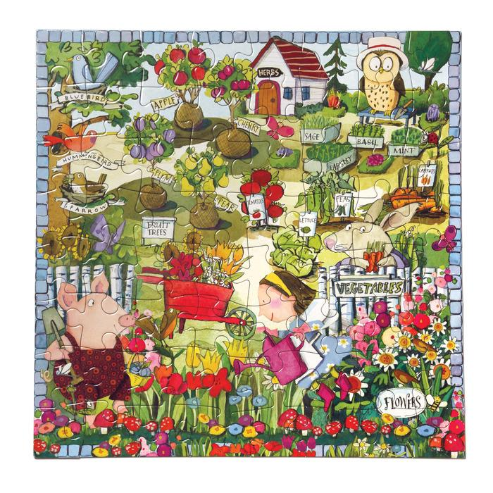 64 Piece Puzzle - Growing a Garden by Eeboo