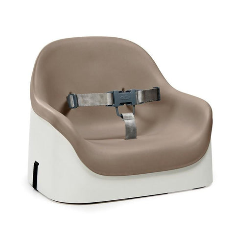 OXO Tot Nest Booster Seat with Straps - Taupe - Pacifier