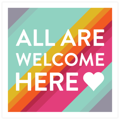 All Are Welcome Here Yard Sign - English / Minnesota All Are Welcome Here Decor
