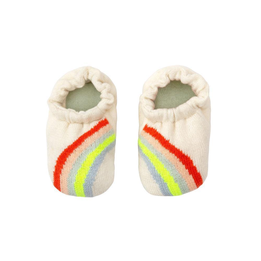 Rainbow Baby Booties by Meri Meri