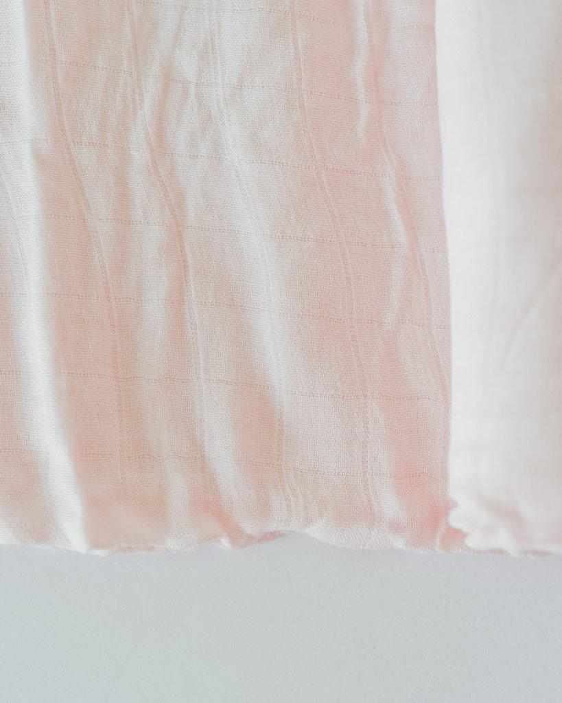 Deluxe Bamboo Single Swaddle - Blush by Little Unicorn