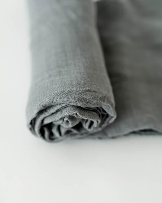 Deluxe Bamboo Single Swaddle - Charcoal by Little Unicorn