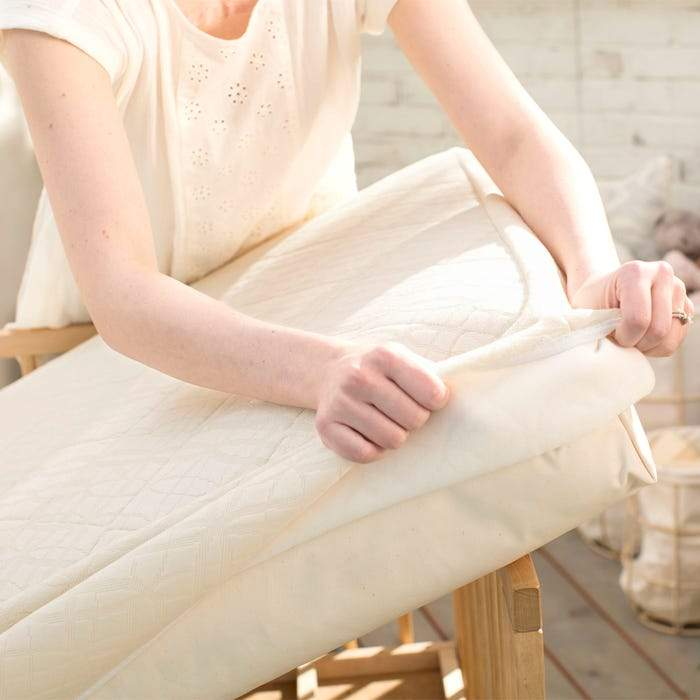 Ultra Breathable Mattress Pad - Crib Fitted by Naturepedic