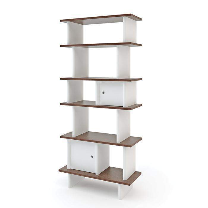 Vertical Mini Library - Walnut by Oeuf Oeuf Furniture