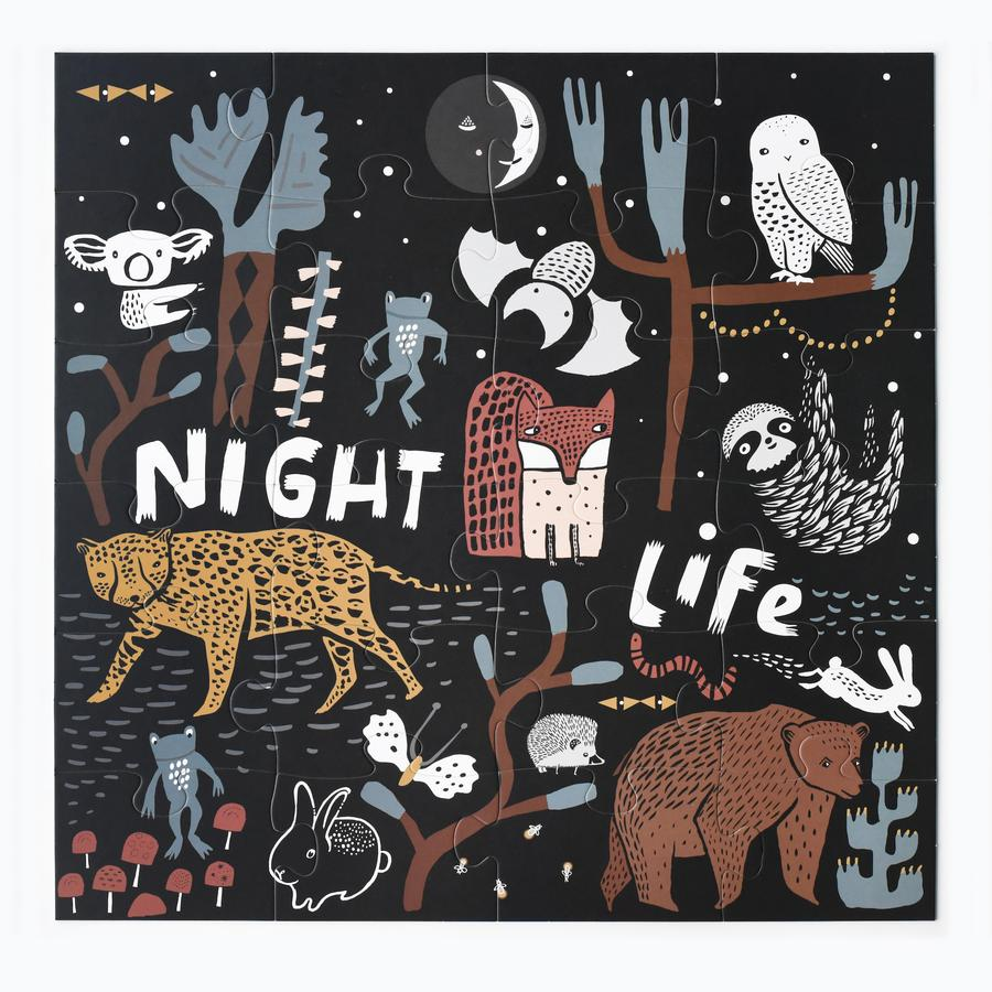 Night Life Floor Puzzle by Wee Gallery