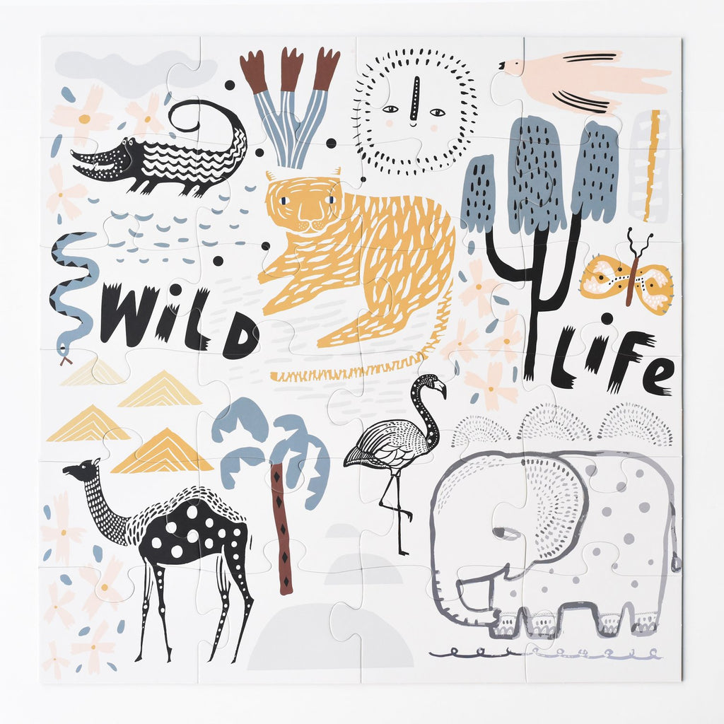 Wild Life Floor Puzzle by Wee Gallery