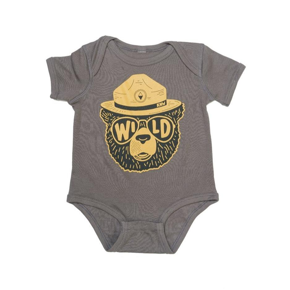Wildbear Onesie - Coal by Keep Nature Wild