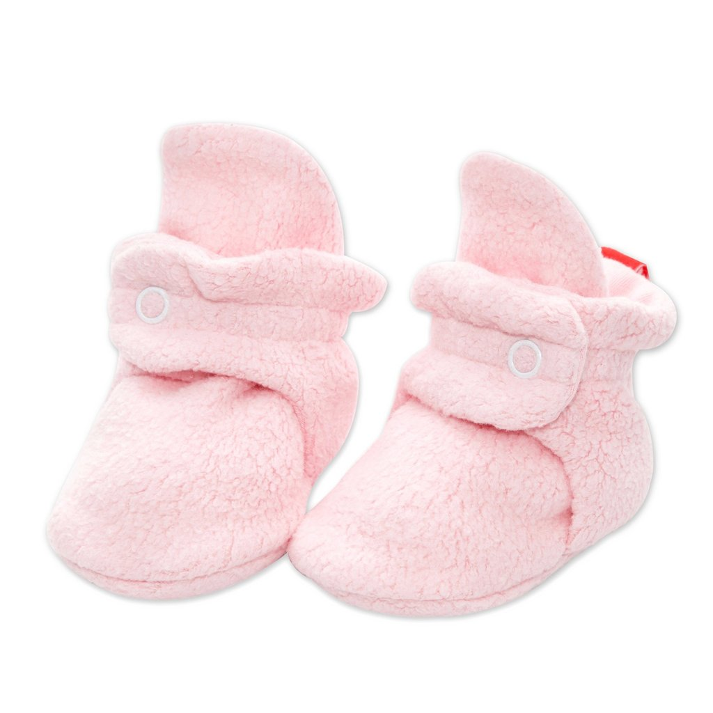 Cozie Fleece Booties - Baby Pink by Zutano