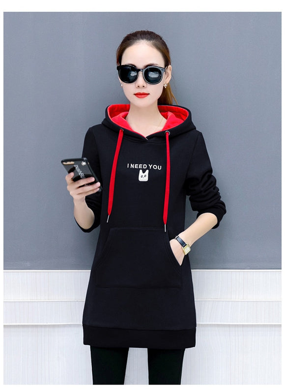 Sonnygirl Casual Thick Hoodie For Women